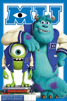 Poster  MONSTERS UNIVERSITY - mike and sulley