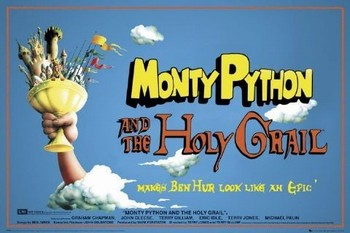 Póster MONTY PYTHON - santo grial