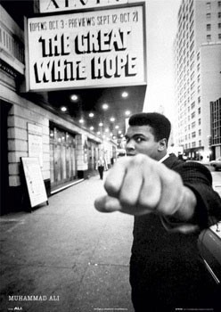 Póster Muhammad Ali - great white