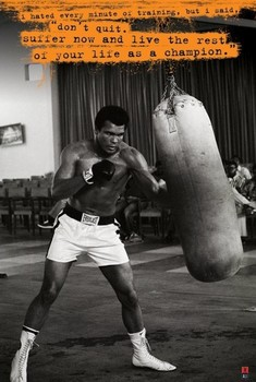 Póster Muhammad Ali - punch bag