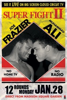 Póster Muhammad Ali vs. Joe Frazier - super fight 2
