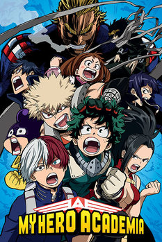 Póster My Hero Academia - Cobalt Blast Group
