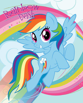 Poster My Little Pony - Rainbow Dash