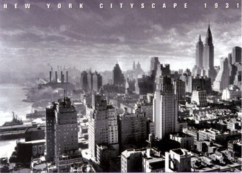 Poster New York Cityscape 1931