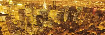 Poster New York - golden