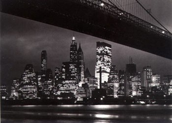 Poster New York night - skyline