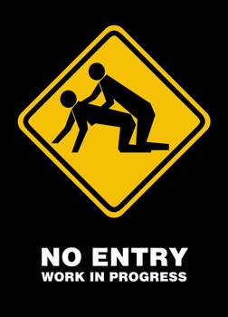Poster No entry