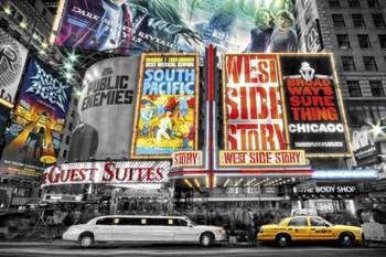 Póster Nueva York - theatre signs