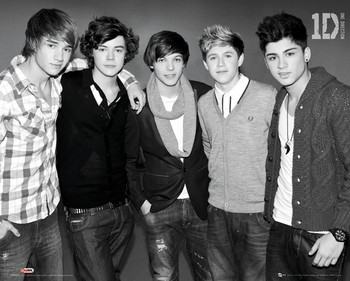 Poster One Direction - b&w