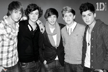 Poster One Direction - black & white