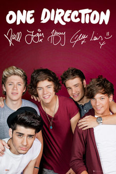 ONE DIRECTION - maroon Poster / Kunst Poster