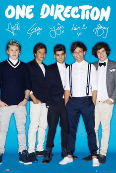 Póster One Direction - signature