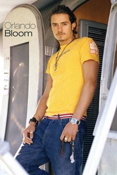 Póster ORLAND BLOOM - yellow shirt