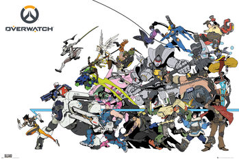 Póster Overwatch - Battle