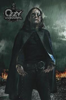 Poster Ozzy Osbourne - black rain