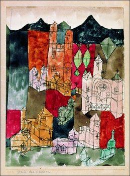 P.Klee - Stadt Der Kirken Kunstdruk