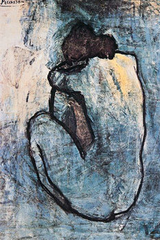 Pablo Picasso - blauw naakt 1902 Poster