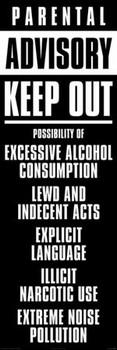 Poster Parental advisory