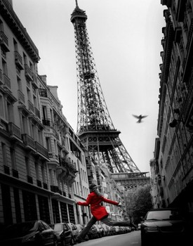 Poster Parigi - la veste rouge