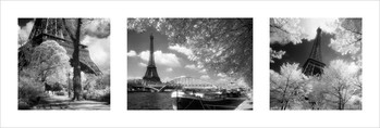 Parijs - Triptych Poster / Kunst Poster