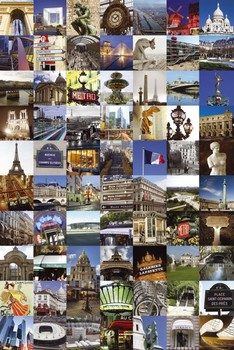 PARIS - collage Poster / Kunst Poster
