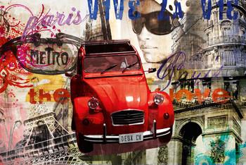 Poster Paris - deux cv