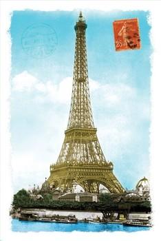 Poster Paris - postcard
