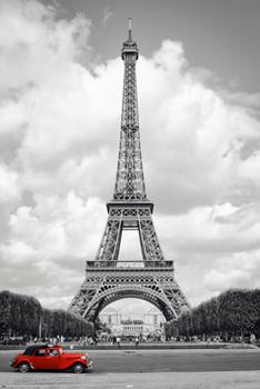 Poster Paris - red car