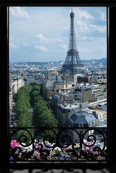 PARIS - window Poster / Kunst Poster