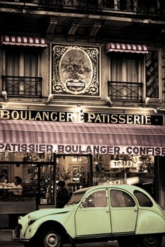 Poster Parisian patisserie