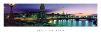 Poster Parisien view - color