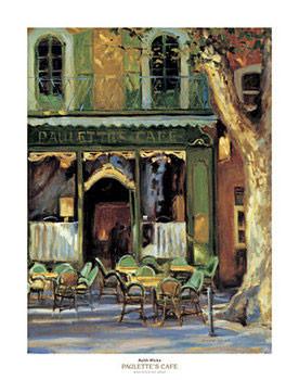 Paulette's Cafe Kunstdruk
