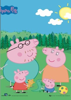 3D Poster  PEPPA PIG - family