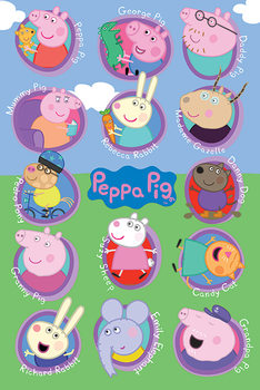 Poster  Peppa Wutz - Multi Characters