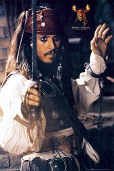 Póster Pirates of Caribbean - Depp sword
