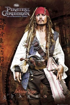 Poster PIRATES OF THE CARIBBEAN 4 - jack standing