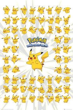 Póster Pokemon - pikachu