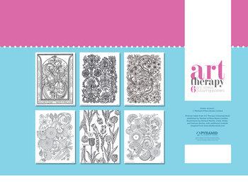 Poster da colorare Art Therapy - Flower