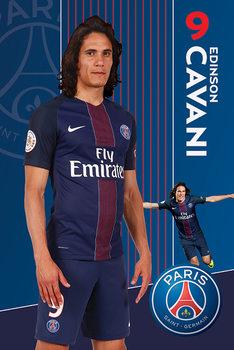 Poster PSG Cavani 16 -17