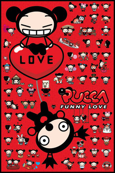 Pucca - collage Poster / Kunst Poster