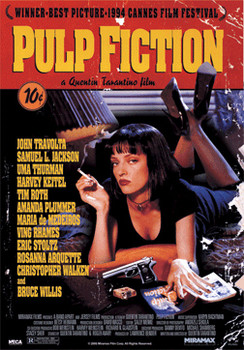 PULP FICTION - one sheet Poster 3D