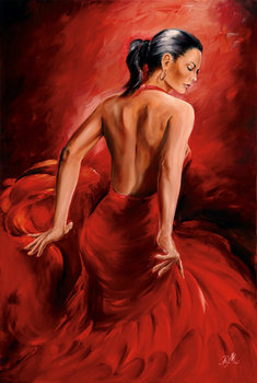 Poster R. Magrini Flamenco - Red Dancer