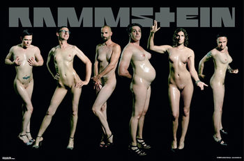 Poster  Rammstein – naked