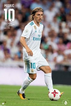 Póster  Real Madrid 2017/2018 - Modric Accion