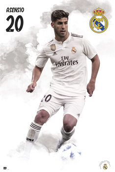 Póster  Real Madrid 2018/2019 - Asensio