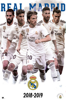 Poster  Real Madrid 2018/2019 - Grupo