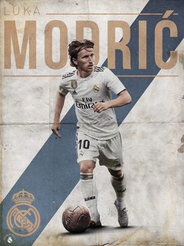 Real Madrid - Modric Kunstdruk