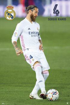 Póster Real Madrid - Sergio Ramos 2020/2021