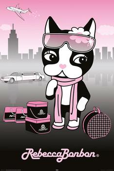 REBECCA BONBON - pretty in pink Poster / Kunst Poster