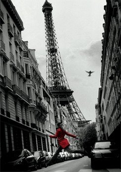 3D Poster Red coat